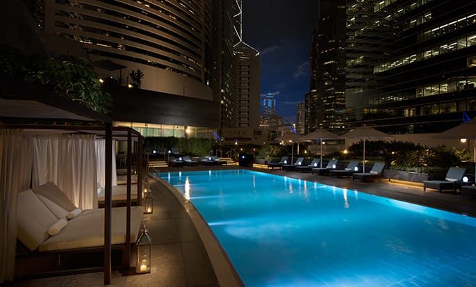Conrad Hong Kong, China - Pool at night