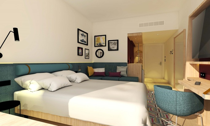 Hampton by Hilton Alcobendas Madrid, Spain - Room with King Bed