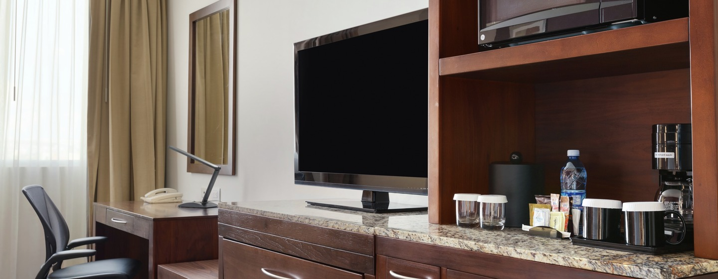 Guestroom TV and Coffee Center