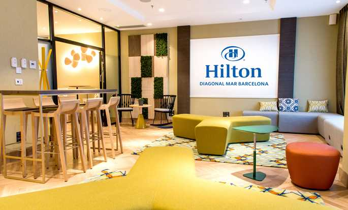 Hilton Diagonal Mar Barcelona Hotel, Spain - Lobby Seatting