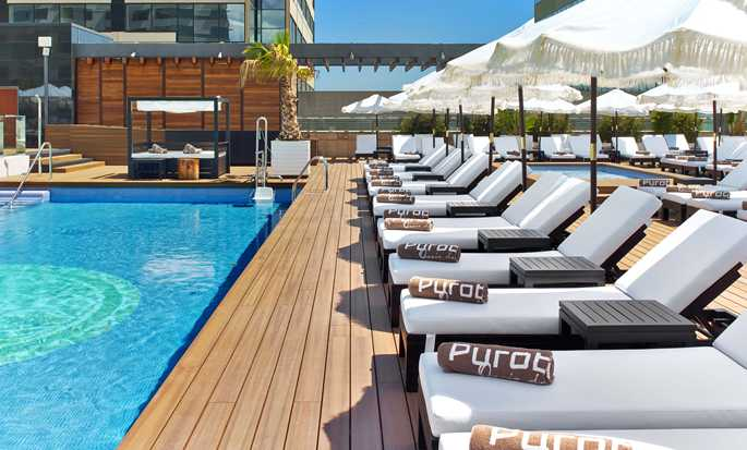 Hilton Diagonal Mar Barcelona Hotel, Spain - Exterior - Pool view