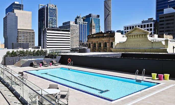 Hilton Brisbane hotel, Australia - Outdoor pool