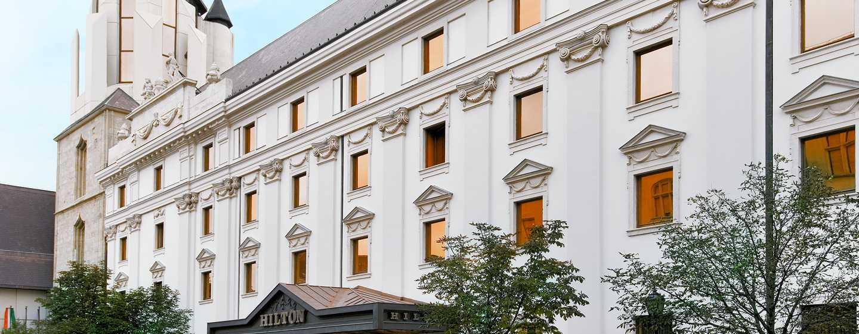 Hilton Budapest hotel, Hungary - Historical facade of  Hilton Budapest hotel