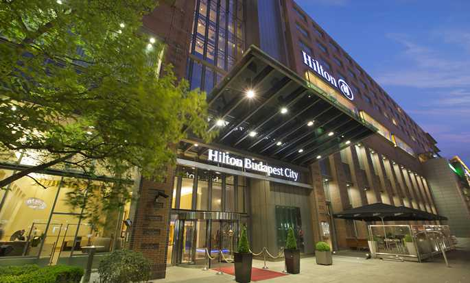 Hilton Budapest City hotel, Hungary - Hotel Exterior Night