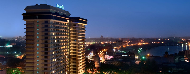 Hilton Colombo Hotel, Sri Lanka - Exterior Night time with city lights