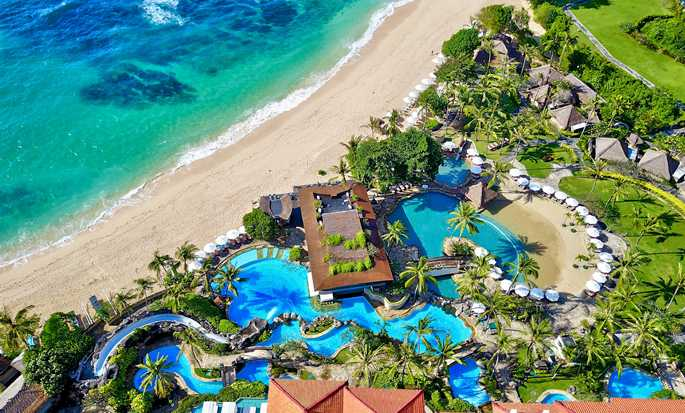 Hilton Bali Resort, Indonesia -  Aerial View of swimming pools