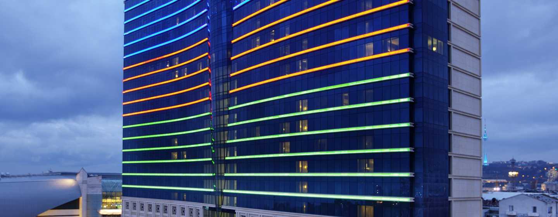 Hilton Baku Hotel, Azerbaijan - Hotel Exterior Twilight view