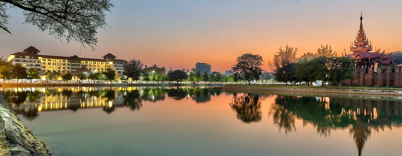 Hilton Mandalay, Myanmar - Hilton Mandalay Hotel Exterior with Palace View