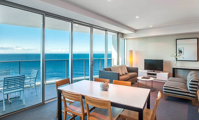 Hilton Surfers Paradise Residences hotel, Australia - 2 Bed Executive Ocean Residence Living Room