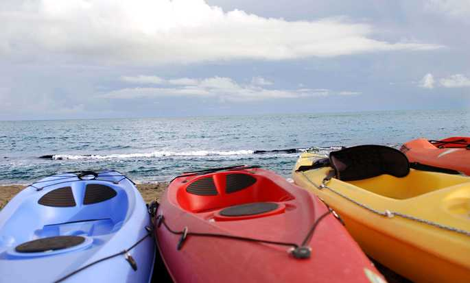 Hilton Ponce Golf & Casino Resort, Puerto Rico - Kayaks at the Beach