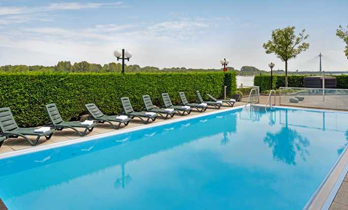 Hilton Vienna Danube Waterfront hotel, Austria - Outdoor pool