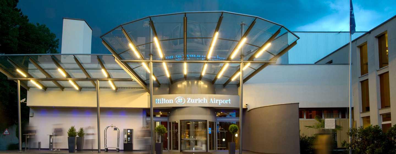 Hilton Zurich Airport Hotel, Switzerland - Main Entrance
