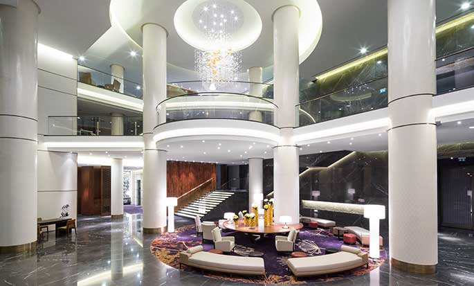 Hilton Kyiv hotel, Ukraine - Lobby